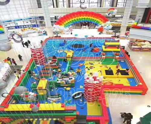 淘气堡儿童乐园室内设备,大型商场百万球池设施
