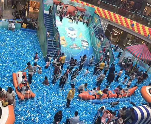 厂家定制商场百万海洋球池,亲子乐园大型滑梯组合儿童室内拓展定做