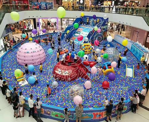 厂家定制淘气堡室内儿童游乐园设备,百万大球池大型游乐场