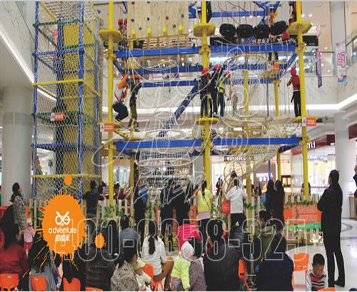 室内拓展攀岩 冒险家室内儿童攀爬设施定制