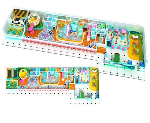 大型室内淘气堡儿童乐园游乐场设备,网红室内设施高端定制厂家