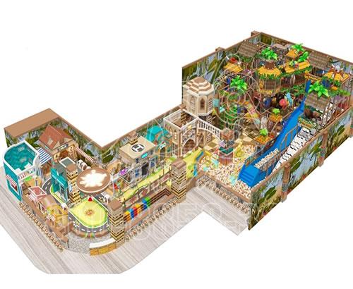 厂家直销室内游乐场设施 ,超市室内儿童淘气堡游乐园拓展设备