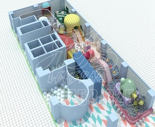厂家定制新款大型室内亲子游乐设备,马卡龙儿童乐园淘气堡