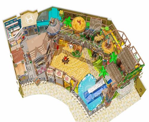 厂家定制淘气堡室内游乐园设备,儿童乐园拓展设施大冒险闯关游乐场