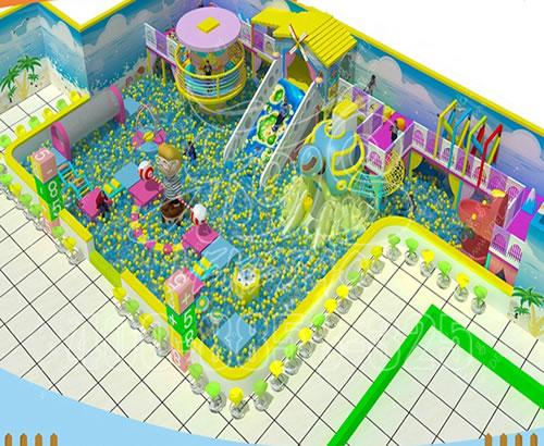 厂家定制新型马卡龙主题糖果淘气堡,儿童乐园 ,室内亲子游乐场设备
