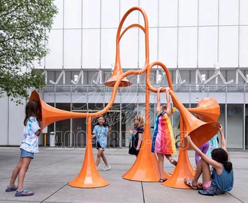 非标定做户外不锈钢传声筒景区公园幼儿园大型喇叭筒传音筒游乐设备设施