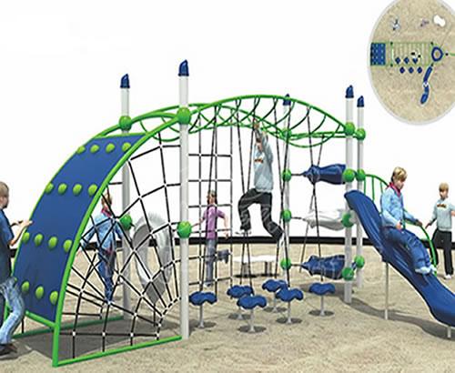 户外大型爬网游乐设备,勇攀高峰儿童攀爬网