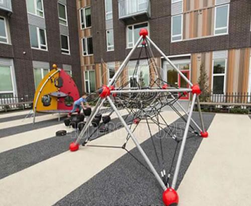 户外大型儿童攀爬网,非标定制公园小区多功能拓展训练体能攀爬网厂家