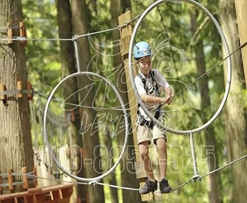 定制景区户外拓展设备高空森林探险设施成人儿童丛林穿越游乐设备